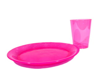 Pink Plate and Cup