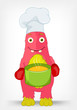 Funny Monster. Chef.