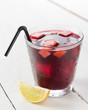 glass of Spanish sangria