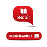 Ebook icon button red