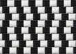 Optical illusion with black and white pillows