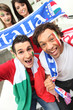 Group of Italian football supporters