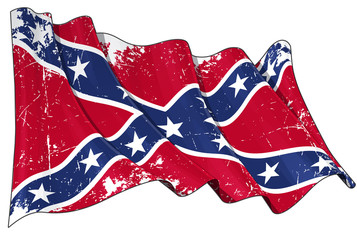 Confederate Rebel flag Scratched