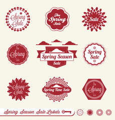 Vector Set: Spring Sale Labels