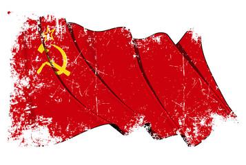 Soviet Union flag Grunge