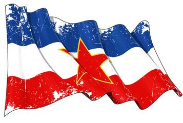Yugoslavian Flag Scratched