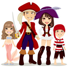 Pirate Family Costume Party