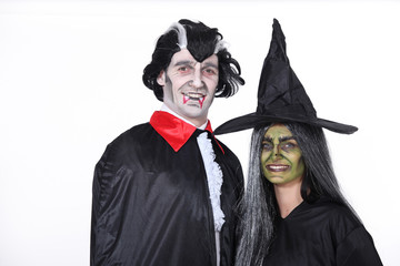 Couple dressed up for Hallowe'en