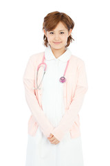 Beautiful young nurse. Portrait of asian.