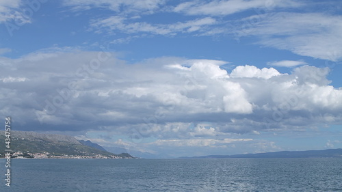 Clouds under the adriatic sea