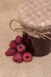 Jar with Raspberry Jam