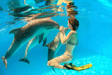 Dolphin and girl