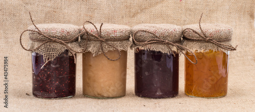 Fresh made Jam in jars