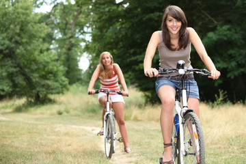 girls on bikes