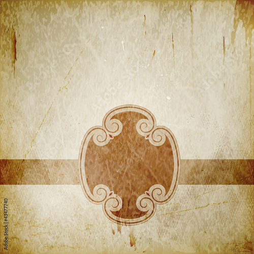 Distressed background with frame