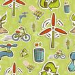 Go green icon set pattern
