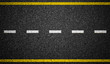 canvas print picture - Asphalt highway with road markings background