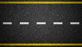 Asphalt highway with road markings background