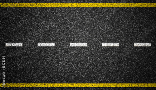 Leinwanddruck Bild Asphalt highway with road markings background