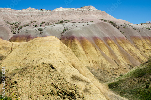 The Yellow Mound area near Dillon Pass, Badlands National Park