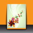 abstract color flowers art background / cover / card