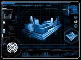 abstract 3d screen design