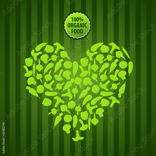 vector background with vegetables vegetarian organic food
