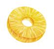 juicy fresh slice of pineapple on white background