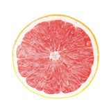 juicy fresh cross section grapefruit on whtie background