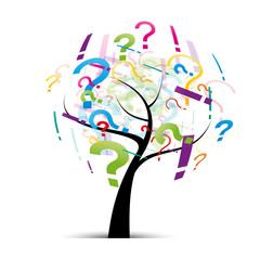 arbre et point d'interrogation