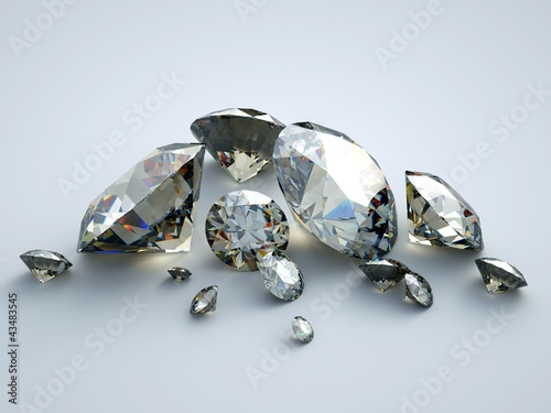 a group of various gems with ideal proportions and refractions