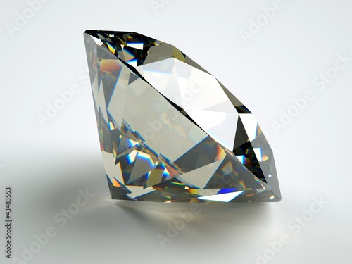 perfect jewel with ideal reflection and caustics