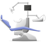 medical dental arm-chair illustration