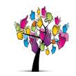 arbre et curseur main