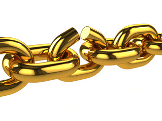 3d Gold Chain Breaks