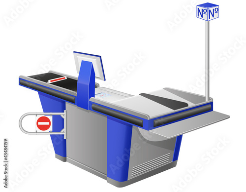 cash register terminal illustration