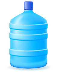 water in a plastic bootle illustration
