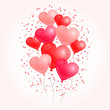Red Colored Heart Balloons
