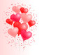Red Colored Heart Balloons Background