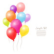 Birthday Card Colorful Balloons