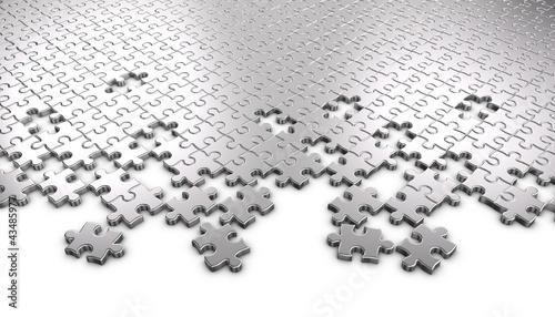 Metal Jigsaw Puzzle Pieces © Ayzek