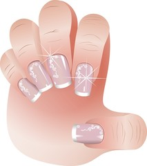 French manicure banners set