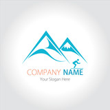 Company (Business) Logo Design, Vector, Mountain and Ski