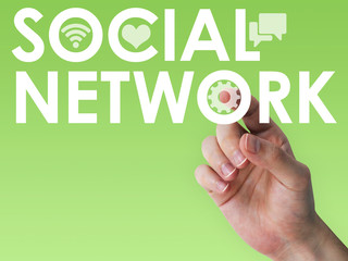 Touch screen social network