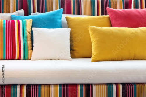 close up of Decorative pillow natural Fabric