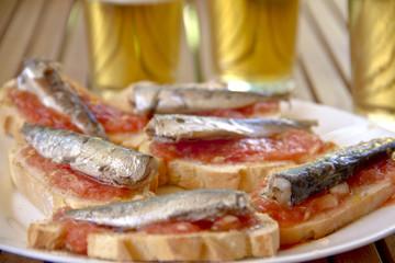Sardines tapas