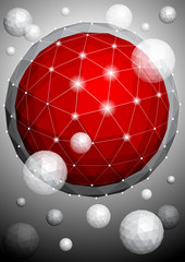 Background with polygonal sphere
