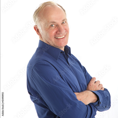 Friendly middle-aged man with a beaming smile