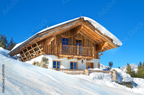 Mountain chalet in alps - 43491366