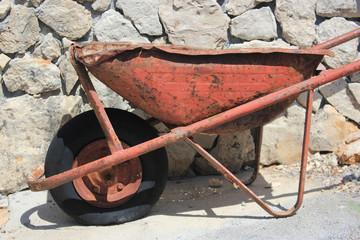 thoroughly used up wheelbarrow